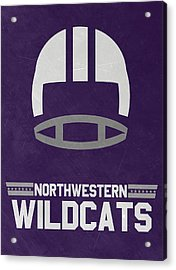 Northwestern Wildcats Vintage Football Art Acrylic Print