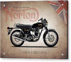 Norton Commando 1974 Acrylic Print by Mark Rogan
