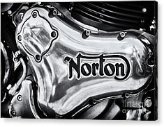 Acrylic Print featuring the photograph Norton Commando 961 Engine Casing by Tim Gainey