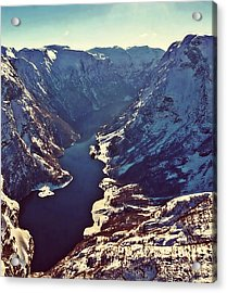Norway Mountains Acrylic Print by Digital Art Cafe