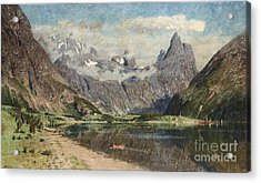 Norwegian Fjord Landscape Acrylic Print by Celestial Images