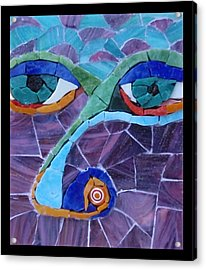 Nose - Fantasy Face No. 17 Acrylic Print by Gila Rayberg