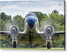 Nose To Nose With A Dc-3 Acrylic Print