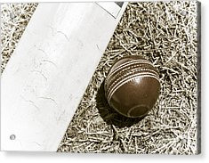 Nostalgic Cricket Bat And Ball Acrylic Print by Jorgo Photography - Wall Art Gallery