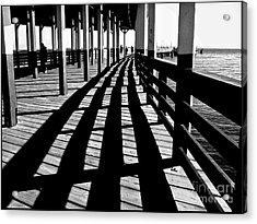 Nostalgic Walk On The Pier Acrylic Print