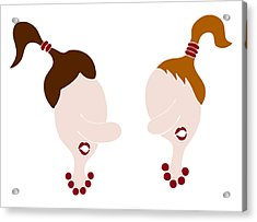 Nosy Girls Acrylic Print by Frank Tschakert