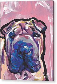 Not A Hippo- Just Hip Acrylic Print by Lea S