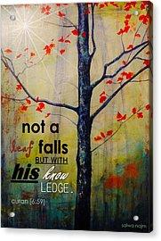 Not A Leaf Falls Acrylic Print by Salwa  Najm