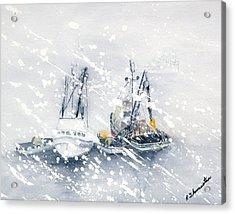 Not All Fishing Is Fun Acrylic Print by Robert Thomaston