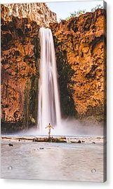 Not All Who Wander Are Lost Acrylic Print by Bill Cantey