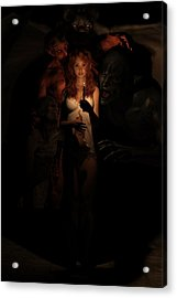 Not Alone In The Dark Acrylic Print by Andy Renard