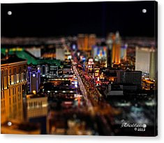 Not Everything Stays In Vegas - Tiltshift Acrylic Print