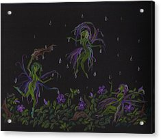 Acrylic Print featuring the drawing Not Exactly Weather Wanted by Dawn Fairies