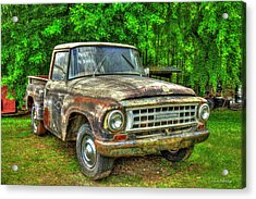 Not For Sale 1965 International Pickup Truck Acrylic Print by Reid Callaway