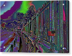 Not On Our Watch 2016 - Suicide Bridge Acrylic Print by Kenneth James