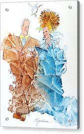 Not Yet Empty Nesters Acrylic Print by Marilyn Jacobson