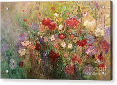 Acrylic Print featuring the painting Nothing But Flowers by Frances Marino