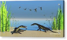 Nothosaurus Reptile Beach Acrylic Print