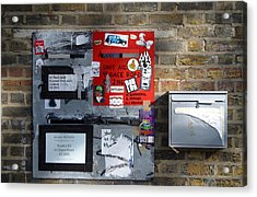 Notice Board For Scrap Acrylic Print by Jez C Self