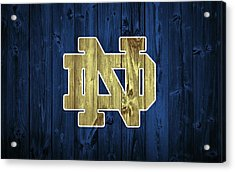 Notre Dame Barn Door Acrylic Print by Dan Sproul