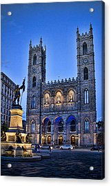 Notre Dame Basilica In Montreal At Dusk Acrylic Print