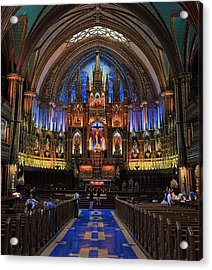 Notre Dame Basilica Montreal City Acrylic Print by Pierre Leclerc Photography