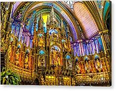 Notre Dame Basilica - Montreal Acrylic Print