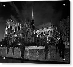 Notre Dame By Night, Paris, France Acrylic Print