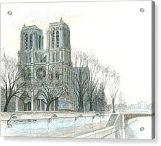 Notre Dame Cathedral In March Acrylic Print