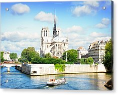 Notre Dame Cathedral, Paris France Acrylic Print