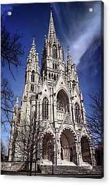 Acrylic Print featuring the photograph Notre Dame De Laeken In Brussels  by Carol Japp