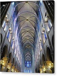 Notre Dame De Paris - A View From The Floor Acrylic Print