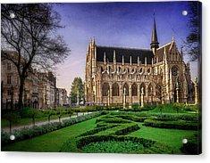 Notre Dame Du Sablon In Brussels  Acrylic Print by Carol Japp