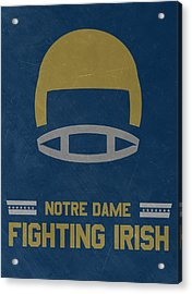 Notre Dame Fighting Irish Vintage Football Art Acrylic Print