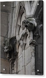 Acrylic Print featuring the photograph Notre Dame Grotesques by Christopher Kirby