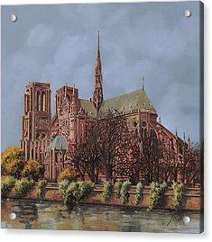 Notre-dame Acrylic Print by Guido Borelli