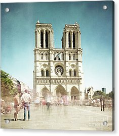 Acrylic Print featuring the photograph Notre Dame by Hannes Cmarits