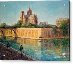 Notre Dame In Sunshine Acrylic Print