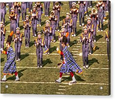 Notre Dame Marching Band Acrylic Print by David Bearden