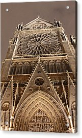 Acrylic Print featuring the photograph Notre Dame North by Christopher Kirby