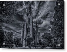 Notre Dame University Church Acrylic Print by David Haskett
