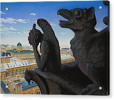 Notre Dame View Acrylic Print