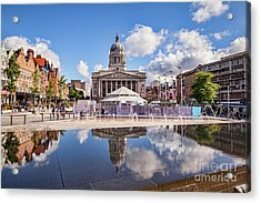Acrylic Print featuring the photograph Nottingham, England by Colin and Linda McKie