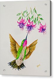 Acrylic Print featuring the painting Nourishment  by Katherine Young-Beck