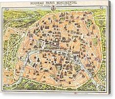Nouveau Paris Monumental Acrylic Print by Pg Reproductions