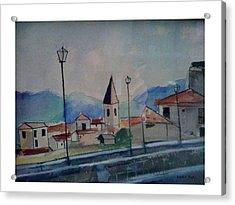 Novara Revisited Acrylic Print by Angela Puglisi