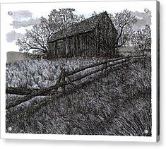 November At The Farm Acrylic Print by Jonathan Baldock