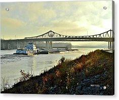 November Barge Acrylic Print
