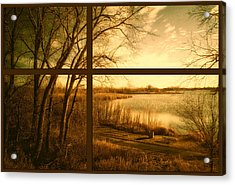 November By The Walking Path Pa Acrylic Print by Thomas Woolworth