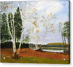 Acrylic Print featuring the painting November Day by Linda Feinberg